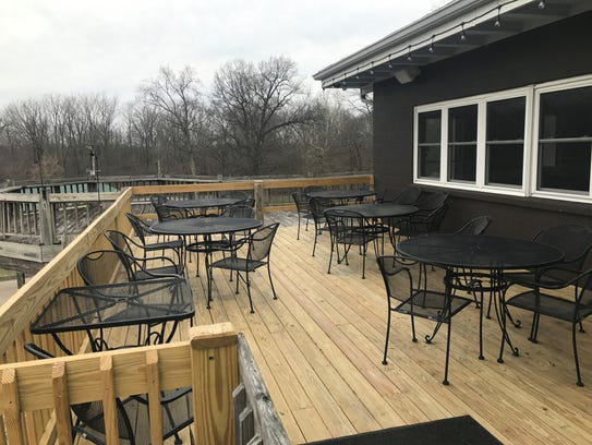 A new deck around the former Fall Creek Golf Club at