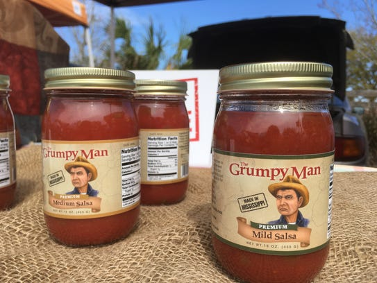Grumpy Man salsas come in three heat levels: mild,
