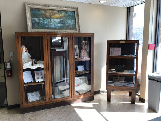 A Pompton Lakes Woman's Club historical displays at