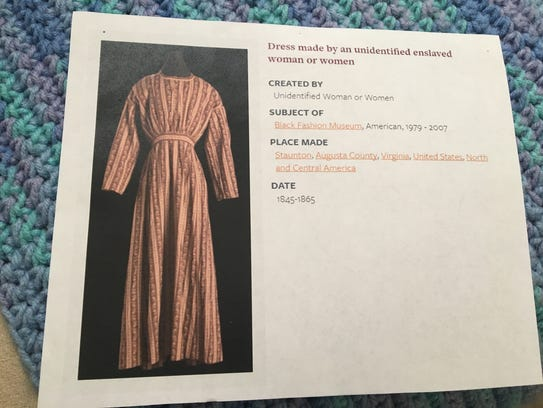 A garment made by an Augusta County slave that is featured