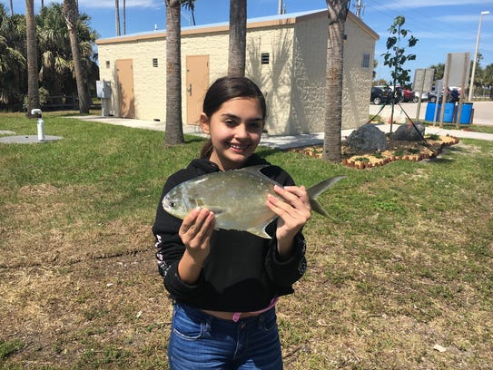 Capt. Charlie Conner's granddaughter, Chloe, caught this nice pompano this past week while on spring break.
