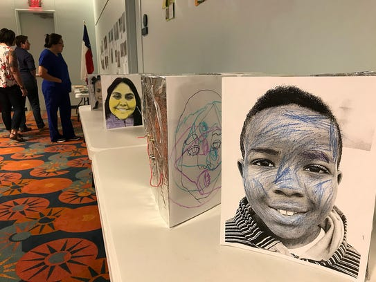 Art projects created by campers were on display during