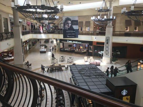 Shopping resumed as normal Sunday inside The Oaks mall