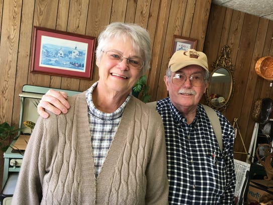 Margaret and Tedd Straw, owners of Staunton Florist.