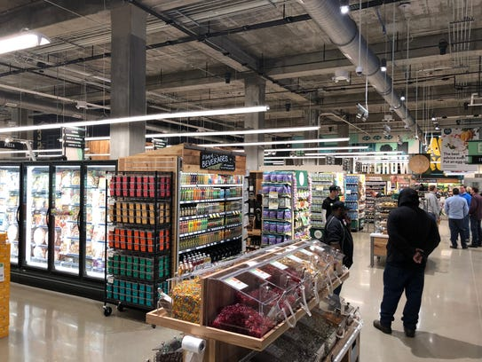 An interior shot of the new Whole Foods in Downtown
