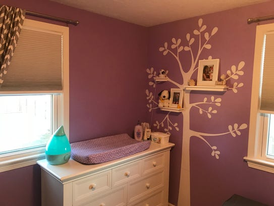 Mark and Tina Cencora painted the nursery in their
