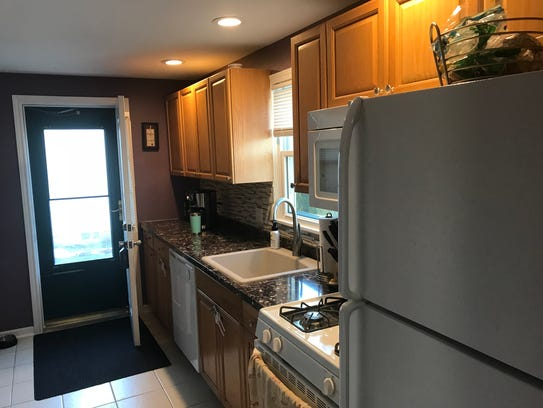The remodeled kitchen shows no trace of its 1953 roots.
