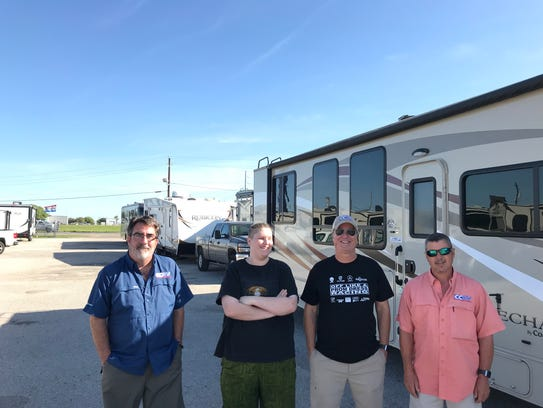 Bill Dunlap, from left, Drake Libbe, Allen Libbe and