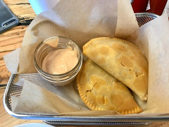 The crawfish pies at Doorway to Gourmet in Iowa Park