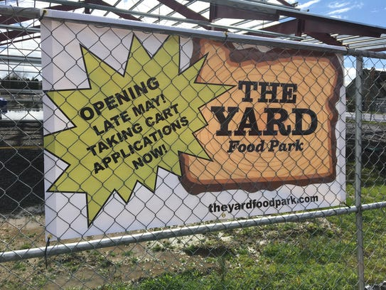 Construction of The Yard Food Park on State St. in