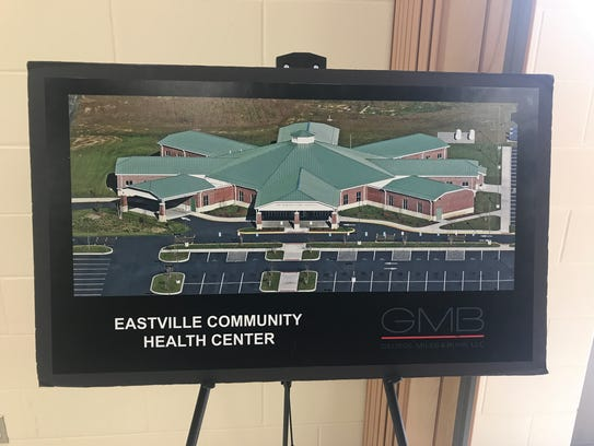 A rendering of the planned new Eastville health center