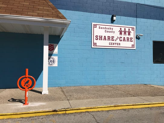 New bike rack at Sandusky County Share and Care, 129