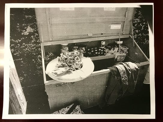 This picture shows a black and white copy of one of