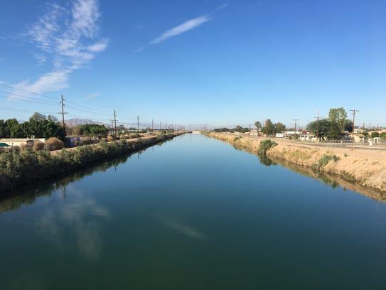 Colorado River water flows through the All-American