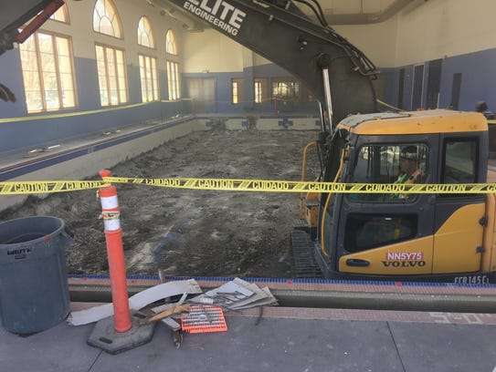 The demolition of the swimming pool at the former YMCA in the Dos Vientos section of Newbury Park began this week as part of the renovation of the building to become the new home of Thousand Oaks Councilman and Pastor Rob McCoy's church.