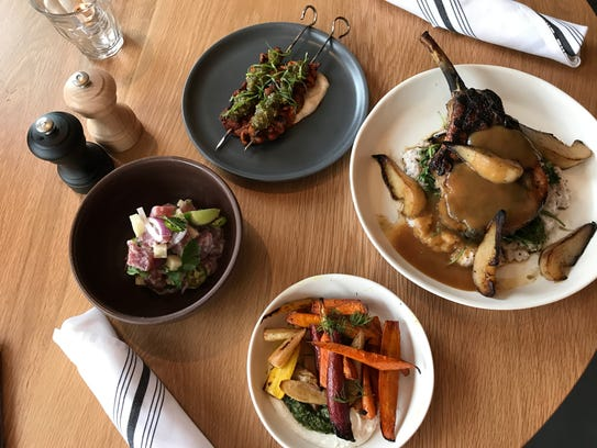 A sampling of dishes at Hedge Row, a Mass Ave. restaurant