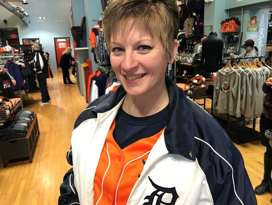 Erin King rocking her layered jerseys and jackets with