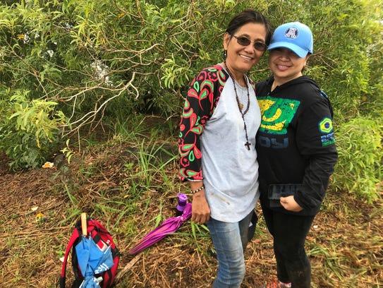 Anita McCale, 61, with Julie Tejaro, 44, journeyed