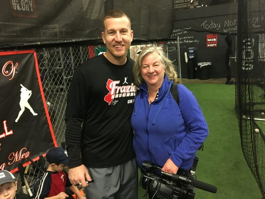 Mets third baseman Todd Frazier (left) and filmmaker