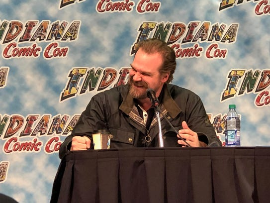 """Stranger Things"" star David Harbour speaks at Indiana"