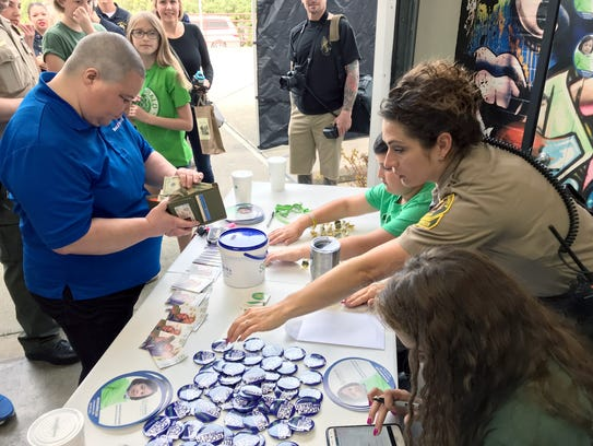 Donations were accepted at the St. Baldrick's event