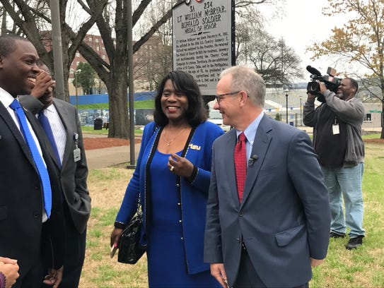 Mayor David Briley and Tennessee State University President