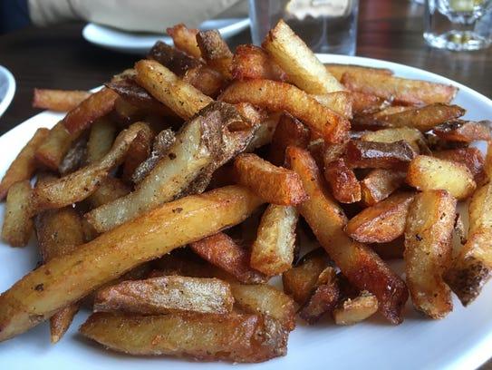 The hand-cut fries at Hemingway's Bar & Hideaway in