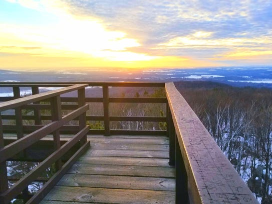 The observation tower at Rib Mountain State Park is
