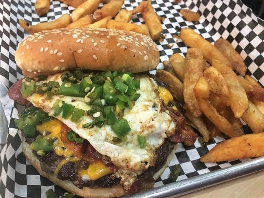 The Hangover Burger at Frida's Bar & Grill in Shreveport.