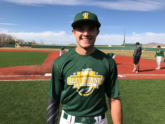 Bishop Manogue senior CJ Hires.