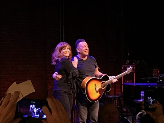 Patti Scialfa and Bruce Springsteen on Broadway, March