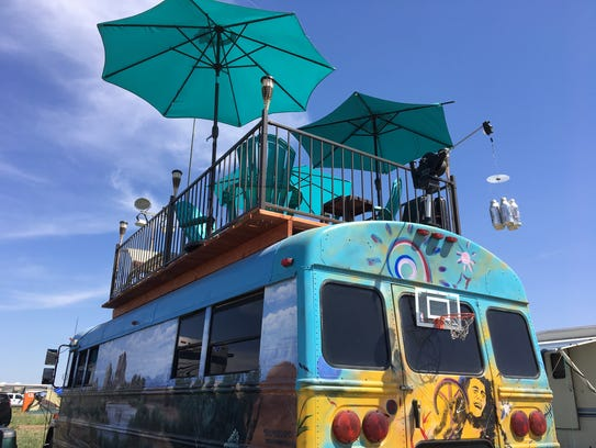 Ray and Lori Hansen own this unique school bus with
