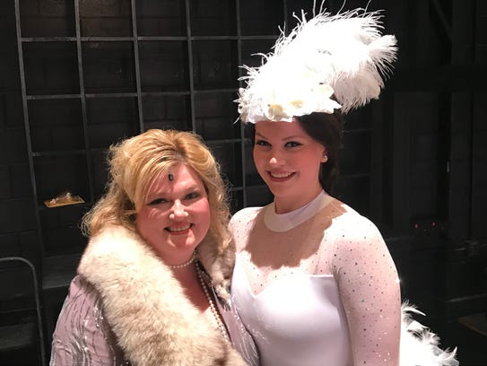 Janine Byrnes, left, and her daughter, Kara, in costume