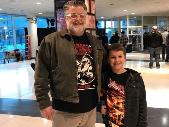 It was a father-son concert experience for Jason Copeman