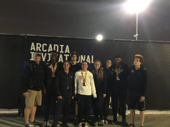 Seven Fort Collins track athletes competed at the Arcadia