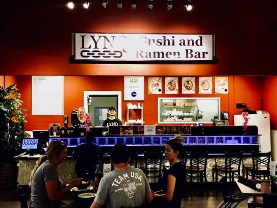 LYNQ has opened a sushi-ramen bar inside Ada's Natural