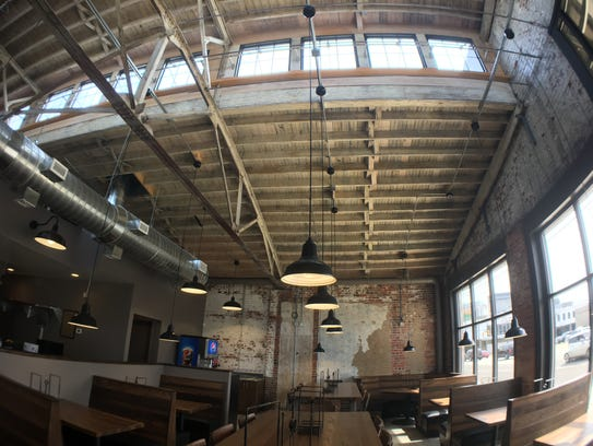 Bibb Street Pizza Co. is inside a renovated, 71-year-old