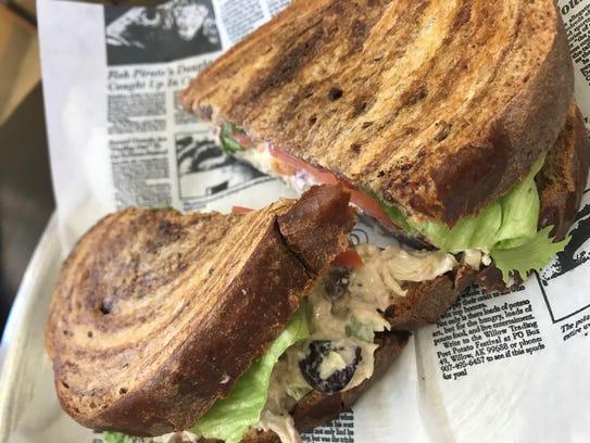 The chicken salad sandwich gets rave reviews at Wanderlust