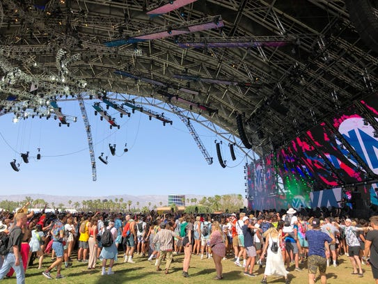The Sahara tent at Coachella.