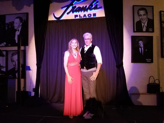 Musical performers Patricia Welch and David Singleton