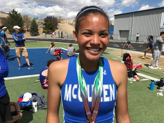 McQueen sophomore Carly Waller set two meet records
