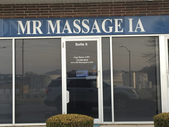Gage Sheldon Bauer, the owner of Mr. Massage in Clive,