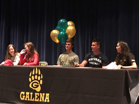 Galena had five seniors commit to compete in athletics