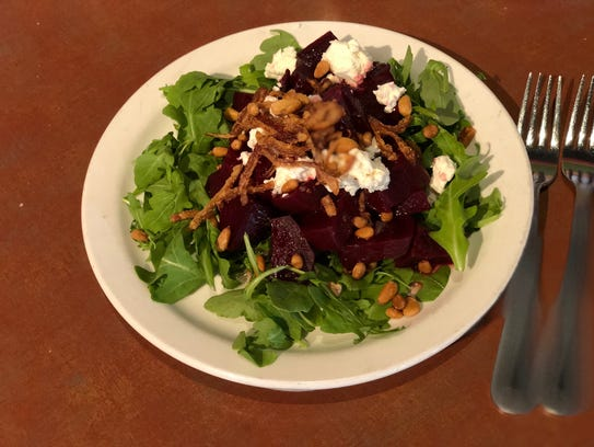 The roasted beets appetizer special at Bocaccinis