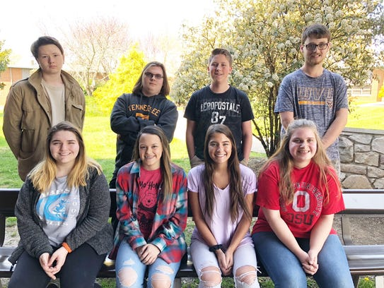 Gibbs High Eagles of the Month for March are (front)