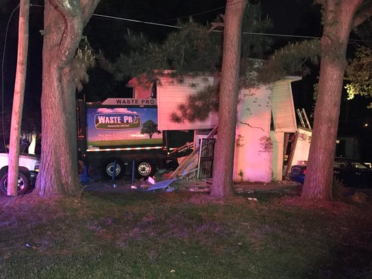 Waste Pro garbage truck crashed into the LNJ Care Home