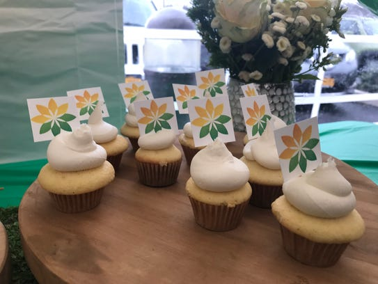 Cupcakes at Thursday's grand opening of Curaleaf's