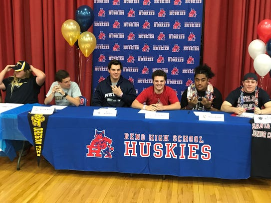 Students signing at Reno High on Thursday included: