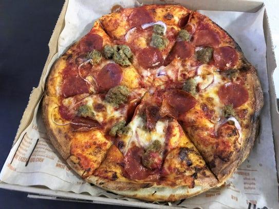 One of seven pre-designed signature pizzas at Blaze,
