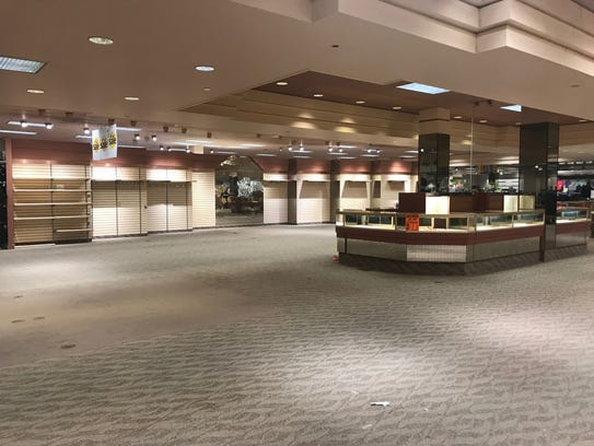 A portion of Younkers sits empty, as liquidation sales